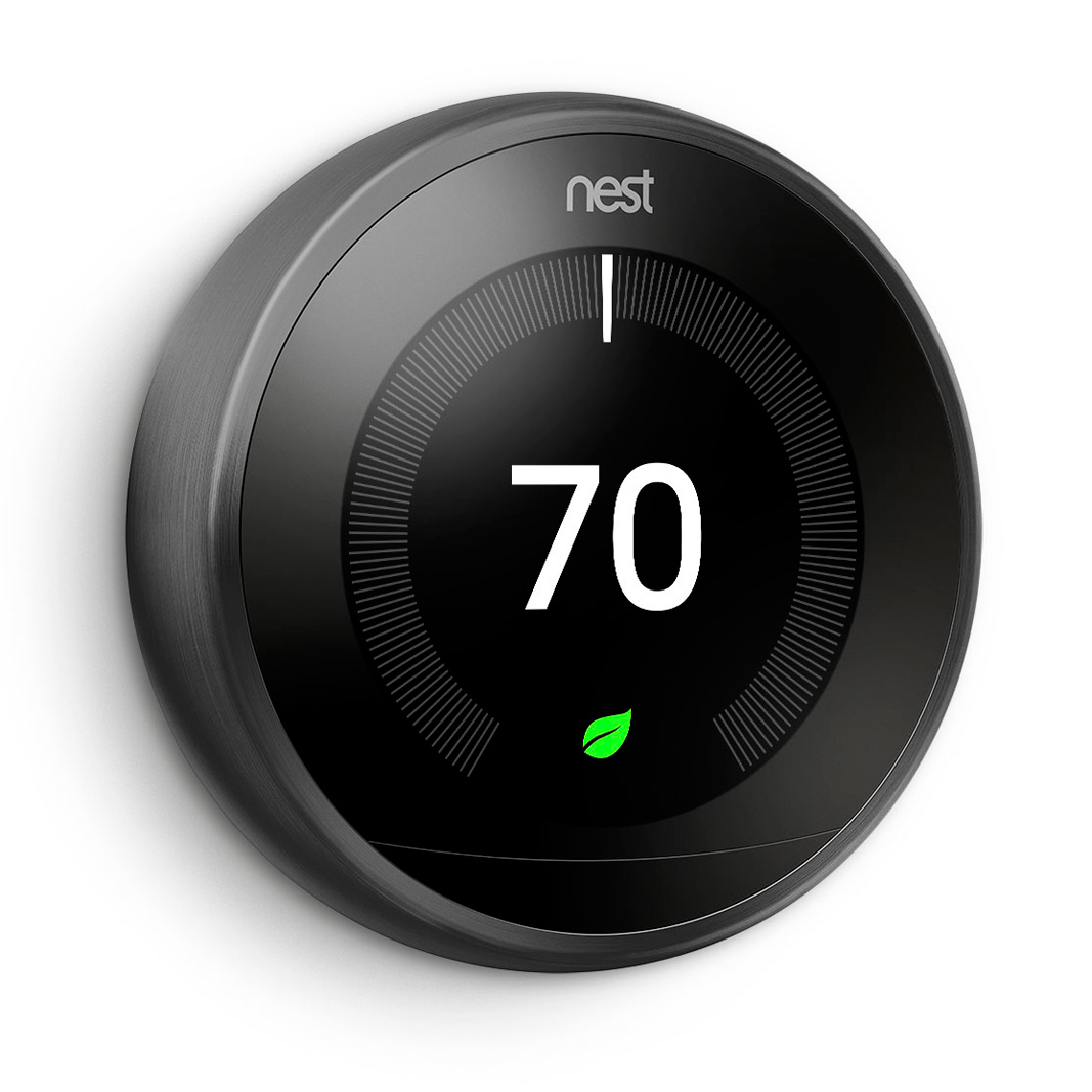 Nest Learning Thermostat in black