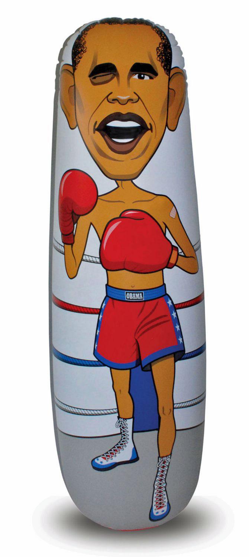 big mouth obama punching bag