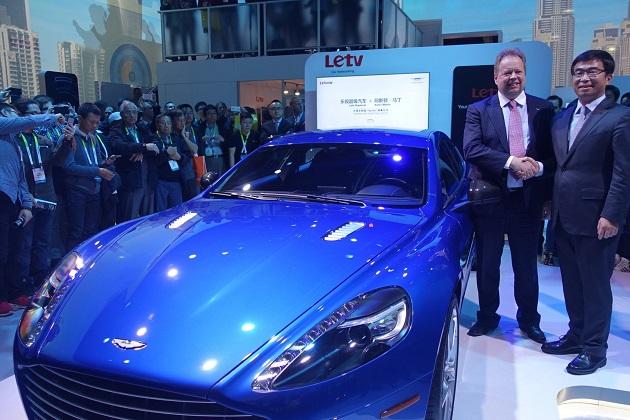アストンマーティン、中国企業Letvとの提携による最新技術を搭載した「ラピードS」をCESで公開