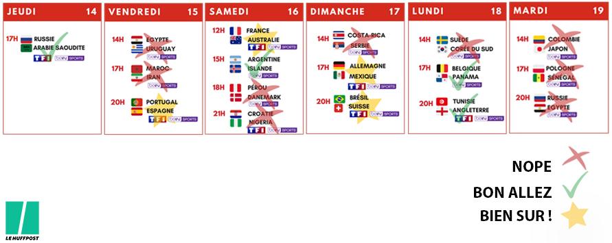 Calendrier A Cocher.Coupe Du Monde 2018 Les 8 Dates A Cocher Dans Votre Agenda