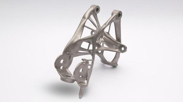 GMの最新ソフトウェアが軽量化と強度の向上を図って作り出した部品がなんとも異様な形