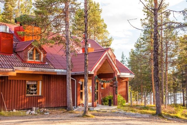 Finland reindeer herder homestead