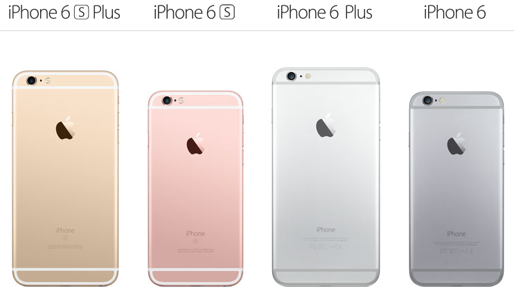 difference between iphone 6 and 6 plus 四機大亂鬥 新舊 iphone 6 家族超級比一比 19696