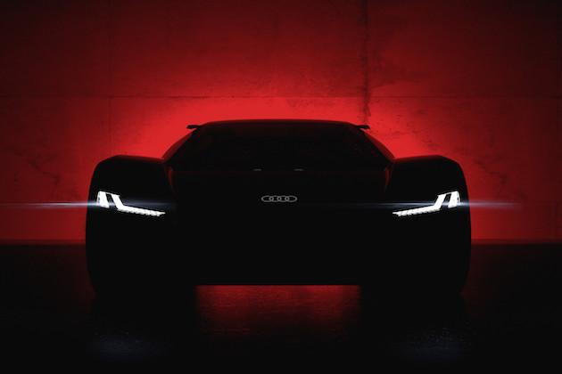 アウディ、電動スーパーカー・コンセプト「PB 18 e-tron」のティーザー画像を公開!