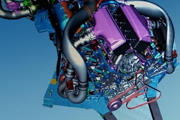 次期型シボレー「コルベット」のミドシップに搭載されるV8 DOHCツインターボ「LT7」エンジンのCAD画像が流出!