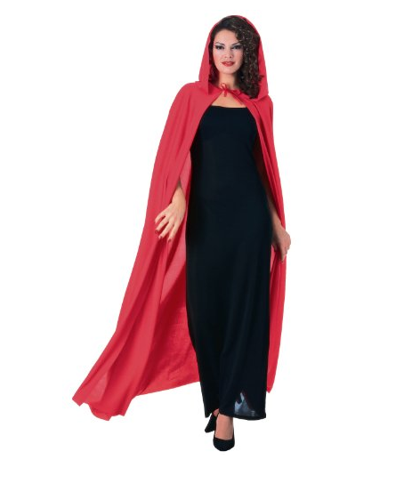 Hooded Red Cape for Little Red Riding Hood Costume