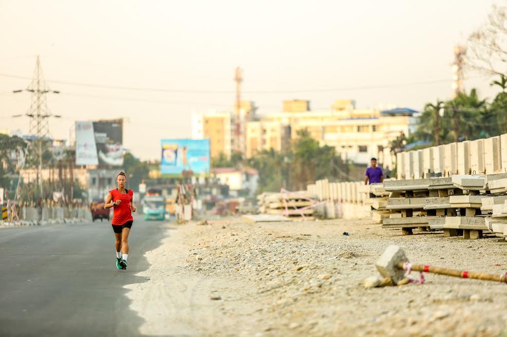 Samantha Gash battled exhaustion, dehydration, illness and injury on her run through