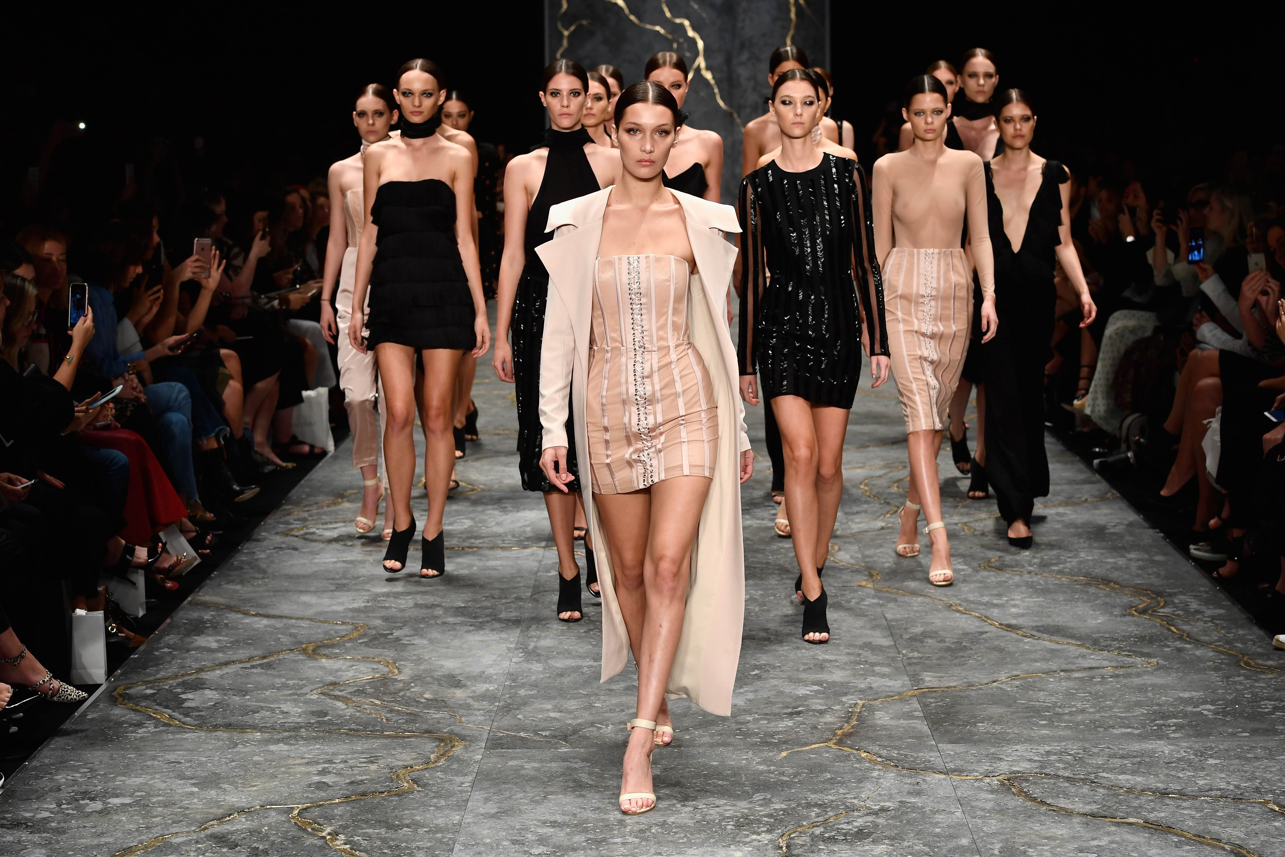 SYDNEY, AUSTRALIA - MAY 16: Model Bella Hadid leads models as they walk the runway during the Misha Collection...