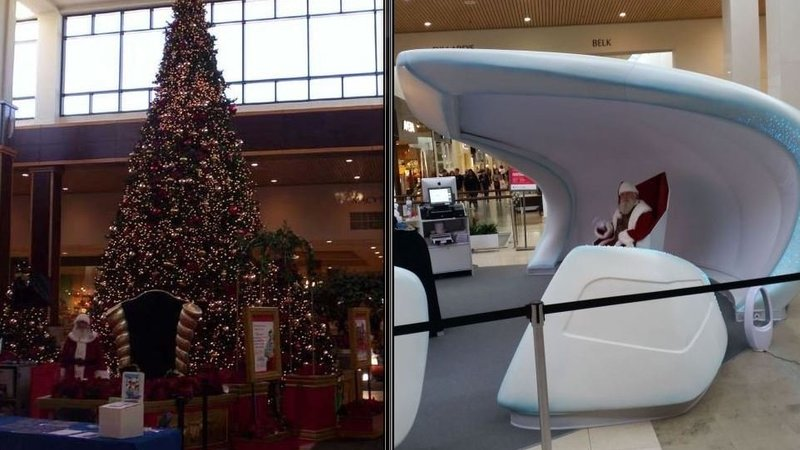 Holiday shoppers balk at space-age Santa display at Roosevelt ...