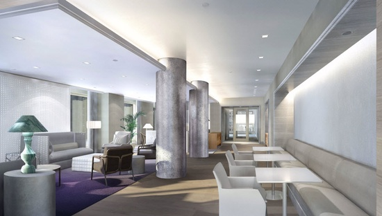 lobby of 160 W 62nd St New York City