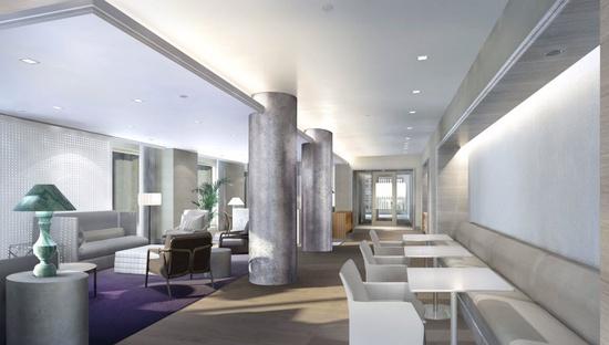 lobby of 160 W 62nd St New York City
