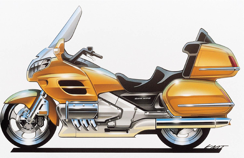 2001 Honda Gold Wing final sketch.