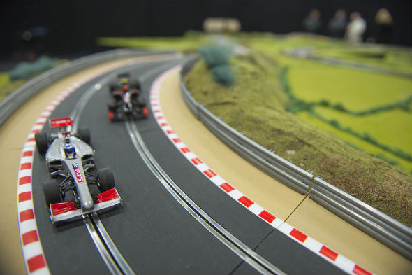 Oversized Scalextric up for auction
