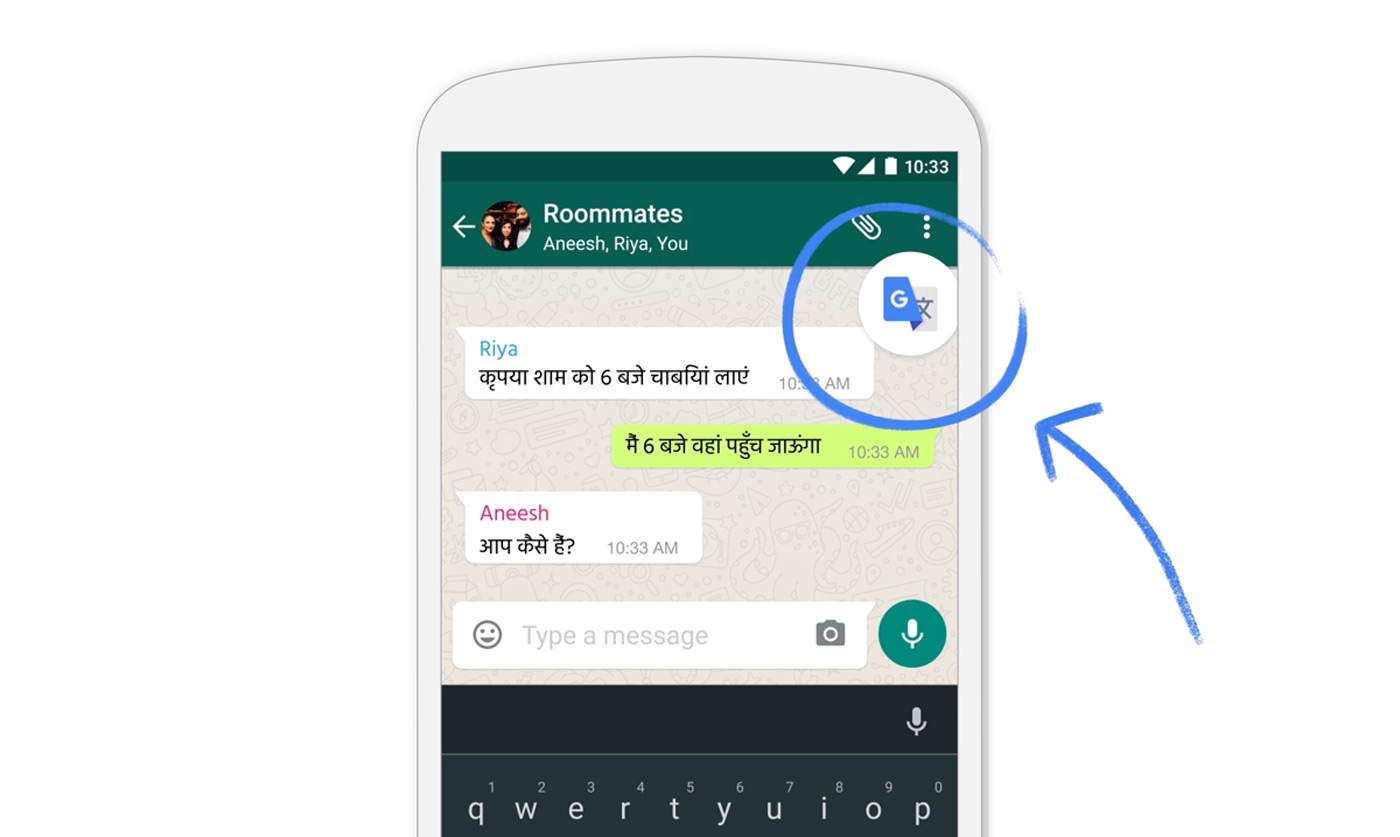 Google translate now works in apps on any android phone stopboris Choice Image