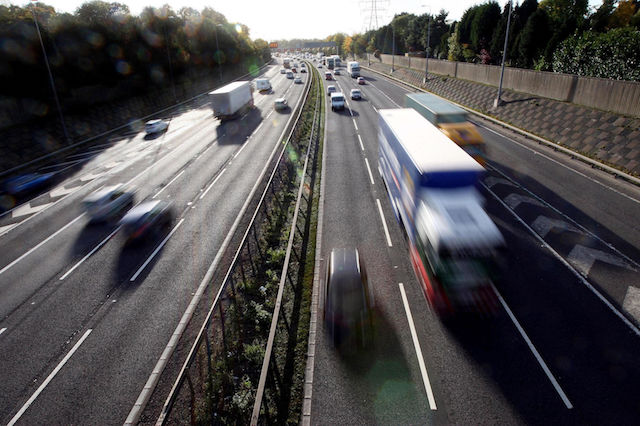 File photo dated 27/10/10 of a general view of traffic on a motorway as drivers are paying record amounts for their car insurance, with average premiums up 11\% in the last year, the Association of British Insurers (ABI) has said.