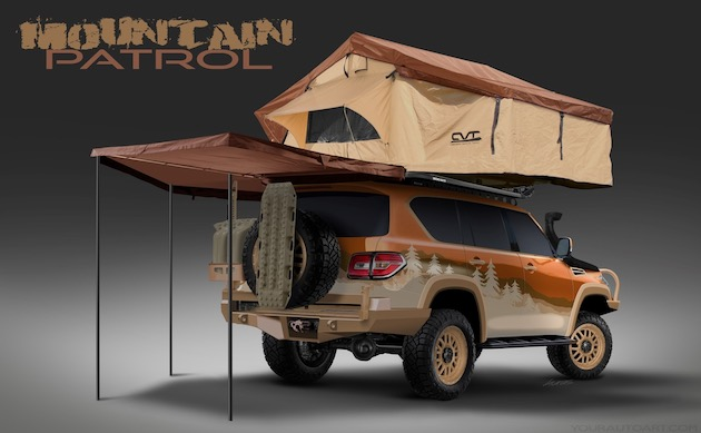 Over the next three weeks, fans can visit the @NissanUSATrucks Instagram and Facebook page to vote on the Mountain Patrolís tire model, exterior design (vinyl wrap) and roof-mounted tent. Fans should utilize the hashtag #MountainPatrol. Voting goes through May 10.