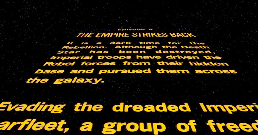 """Le générique d'ouverture de """"Star Wars: L'Empire"""