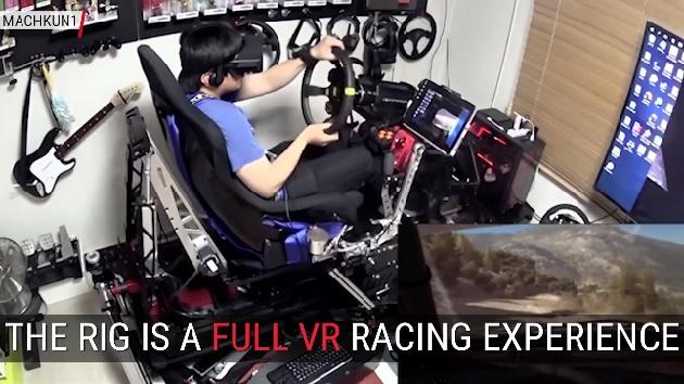 【ビデオ】総製作費は約280万円超!? ゲーム・マニアが自作した超本格レーシング・シュミレーター