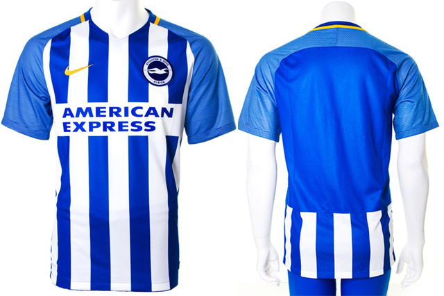 Brighton and Hove Albion FC home kit 2017/18