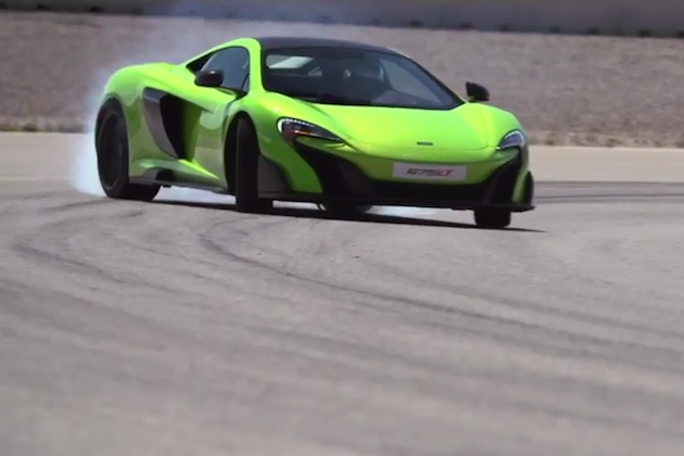 【ビデオ】マクラーレンの新型「675LT」が、白煙を上げながらサーキットを駆ける!