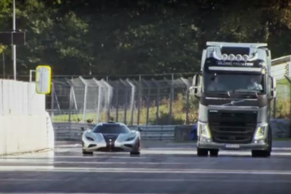 Supercar vs Lorry