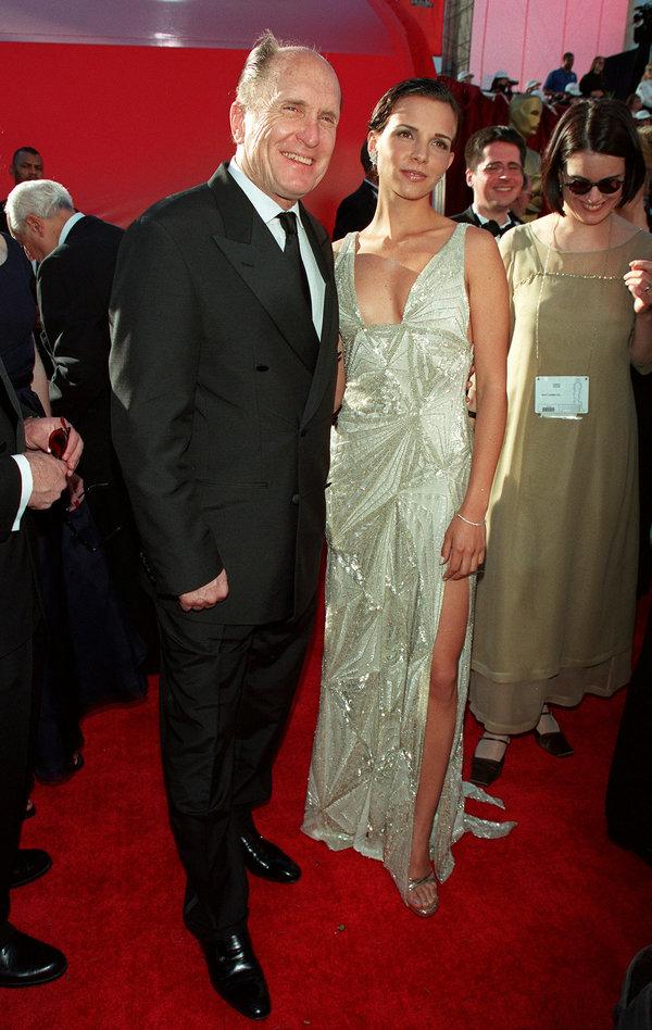 (Original Caption) Robert Duvall and his friend Juliana Pedraza arrive at the Shrine auditorium. (Photo...