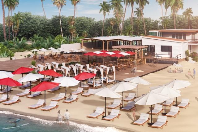 Virgin Holidays airport lounge beach