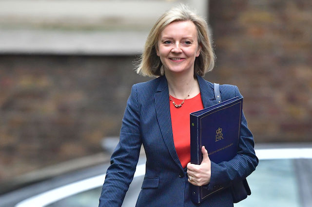 Lord Chancellor Liz Truss arrives in Downing Street, London, as Prime Minister Theresa May chairs a pre-Budget Cabinet meeting. PRESS ASSOCIATION Photo. Picture date: Wednesday March 8, 2017. See PA story BUDGET Main. Photo credit should read: Dominic Lipinski/PA Wire