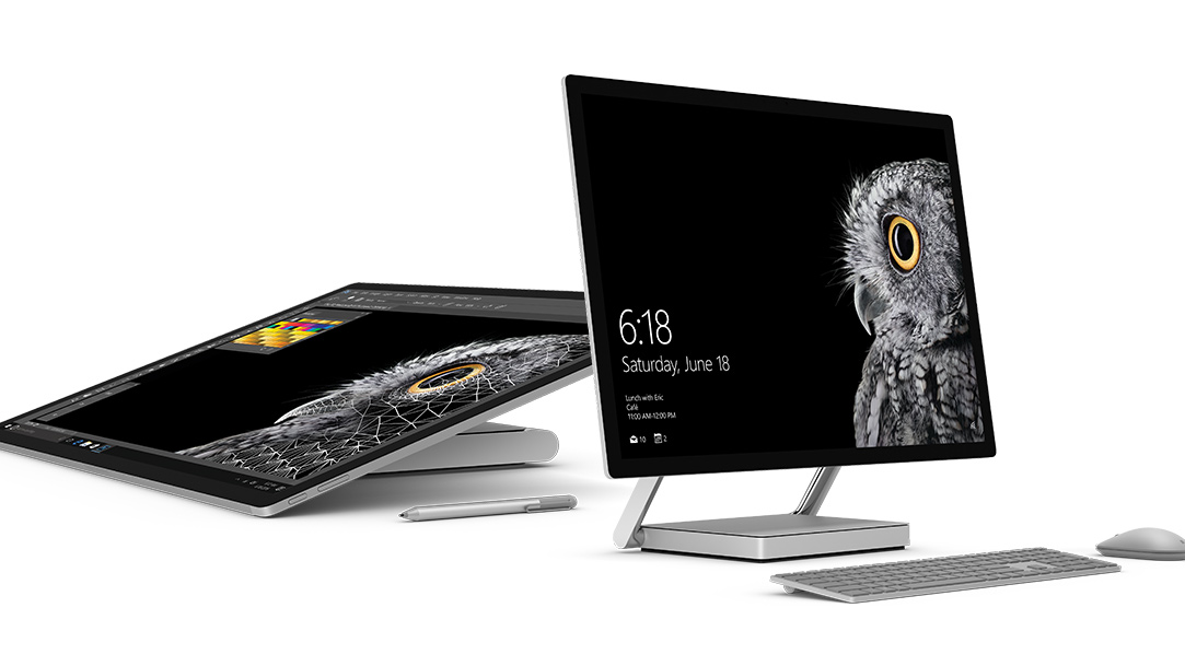 white home studio surface studio is microsofts first all in one desktop