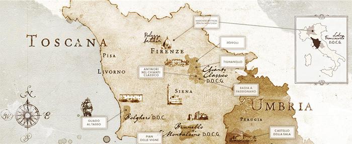 Antinori: plus de 600 ans d'expérience dans la production du