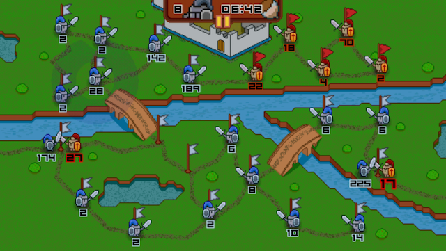 Players decide on the best strategy for attacking enemies in Twitchy Thrones
