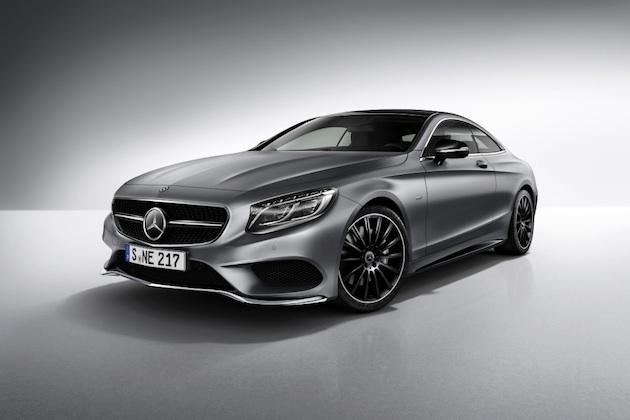 Mercedes-Benz S-Klasse Coupé Night Edition, designo selenitgrau magno, AMG Leichtmetallräder im Vielspeichen-Design, AMG Styling. ;  Mercedes-Benz S-Class Coupé Night Edition, designo selenite grey magno, AMG multi-spoke alloy wheels, AMG bodystyling.;