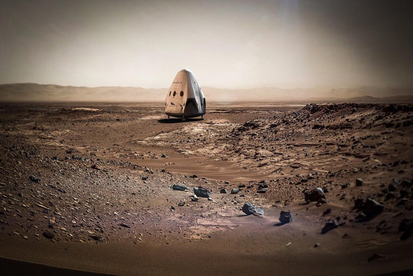 SpaceX 的 Dragon 无人太空船可能最早在 2018 年登陆火星