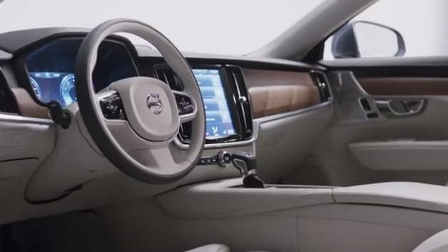 【ビデオ】ボルボ、新型「S90」のインテリアを映像で公開
