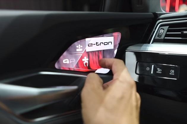 【ビデオ】アウディ「e-tron」に搭載された「ヴァーチャル・エクステリア・ミラー」の機能が分かる映像