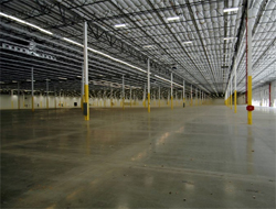Interior shot of Tesla's new leased space in Lathrop, CA.
