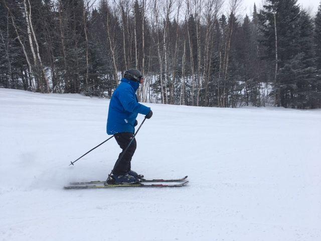 Bob Marcotte du Mont Grand Fonds skie toujours bien à 91