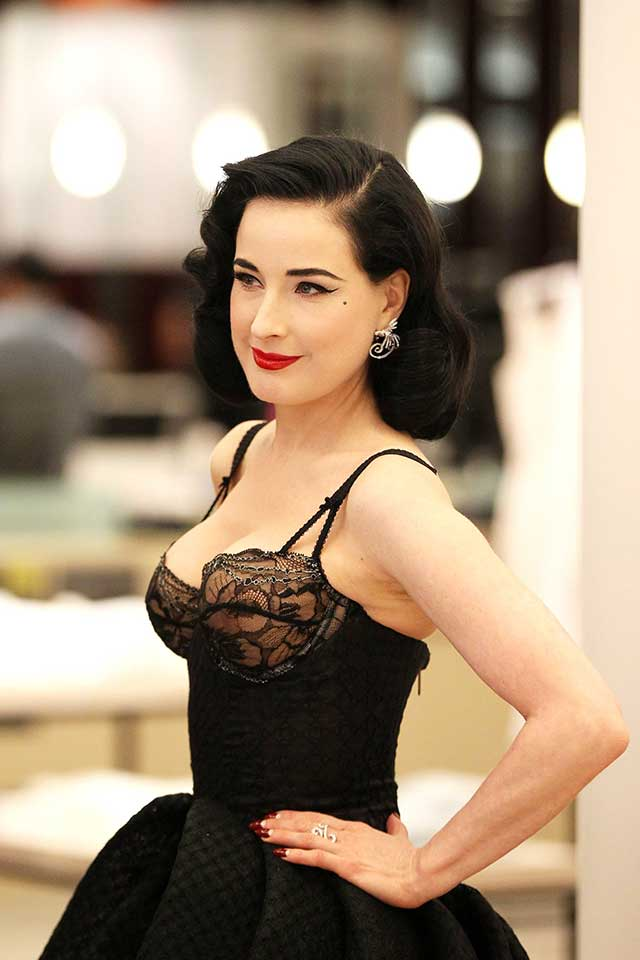 0db725ff653 Dita Von Teese Lives Up To Her Sexy Siren Image As She Launches ...