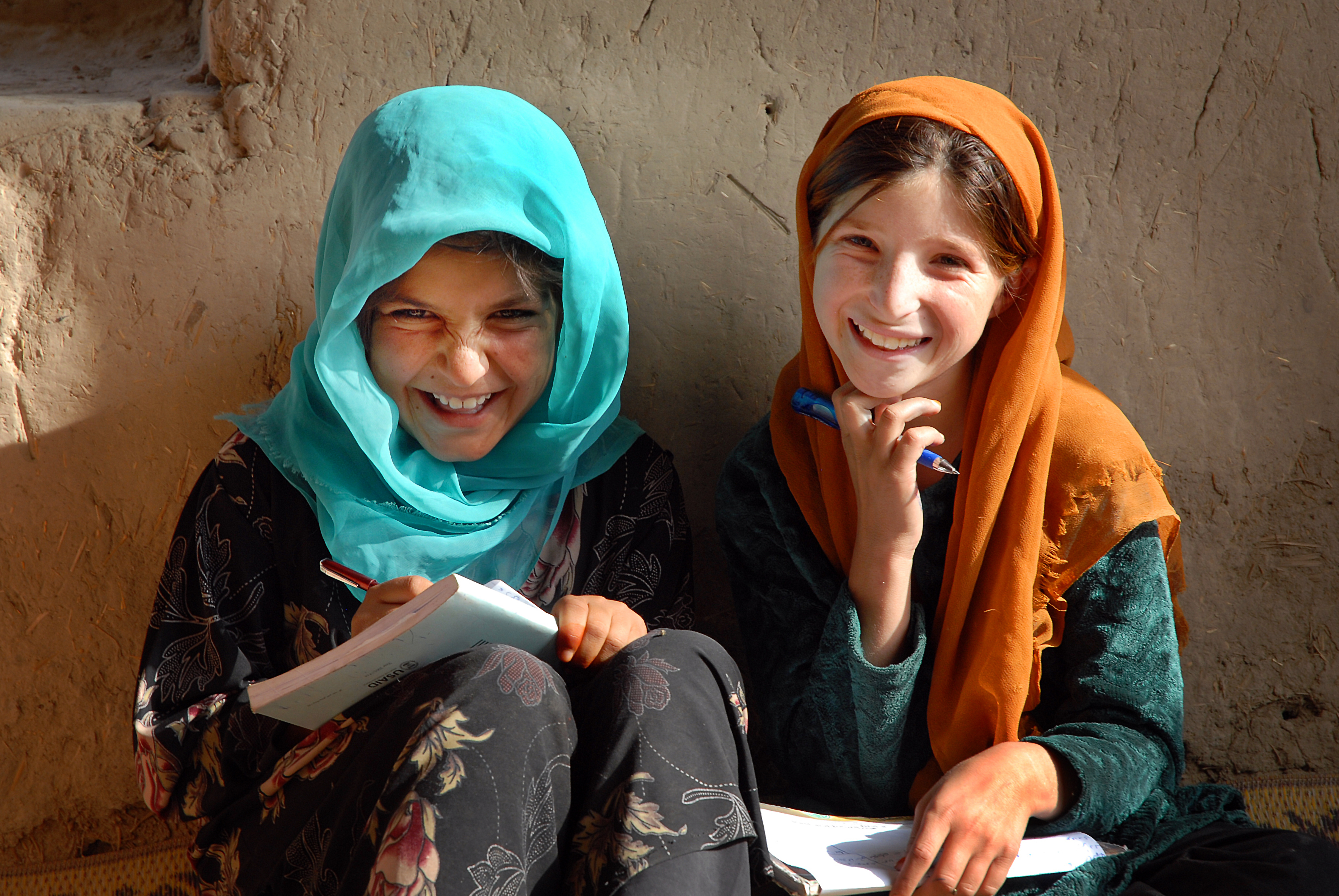 Girls at an IRC-supported school, Logar, Afghanistan. Photo: Peter  Biro.