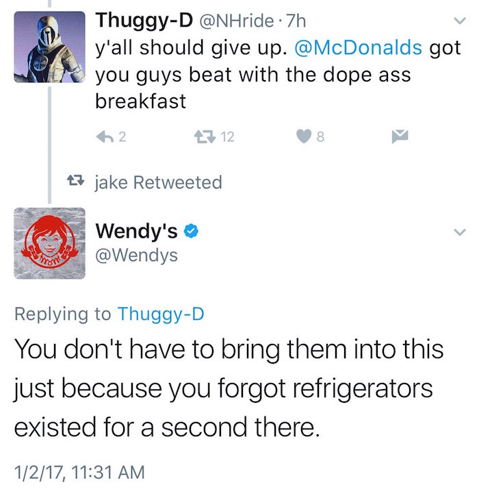 Wendys Amazing Twitter Comeback To Critic Goes Viral AOL Finance - 24 hilarious comebacks wendys twitter account