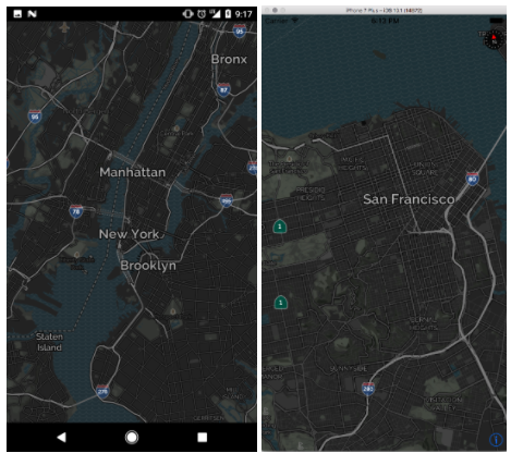 Night mode now available with MapQuests Mobile Map SDKs