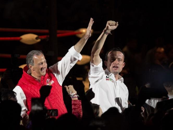 José Antonio Meade y Mikel Arriola, candidatos ciudadanos, cierran campaña ocupando el tercer lugar de...