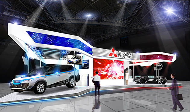 道路に図形が描かれる!! 三菱電機が東京モーターショーに「路面ライティング」を搭載したコンセプトカーを出展!!