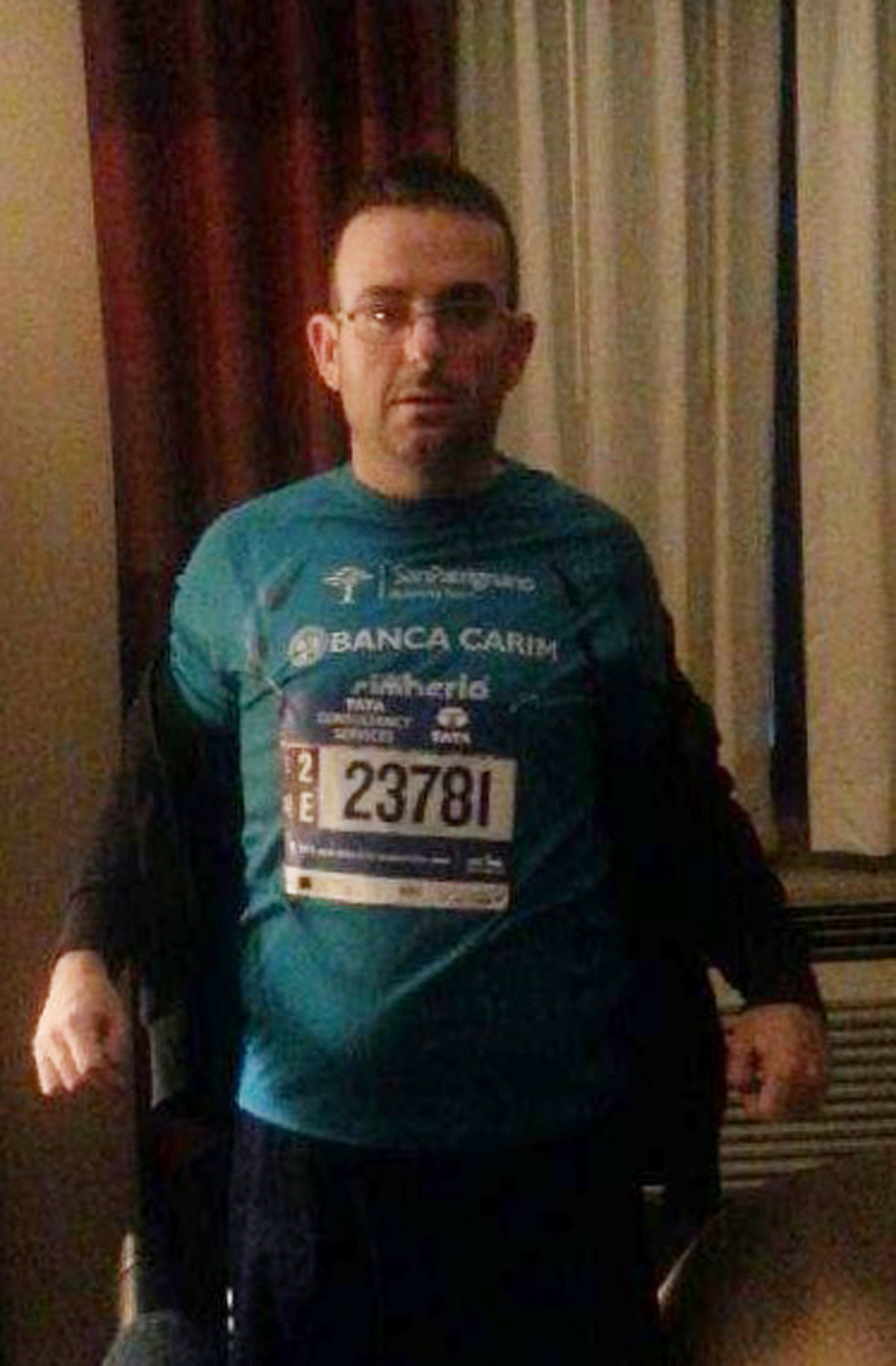 This undated photo provided by the New York Police Department shows Gianclaudio Marengo. The NYPD is asking for the public's help in locating Marengo, an Italian man who speaks only Italian and is mentally challenged, who ran in the New York City Marathon. Police said Marengo was last seen at the finish line in Central Park at around 3 p.m. Sunday, Nov. 1, 2015. (Courtesy of New York Police Department via AP)