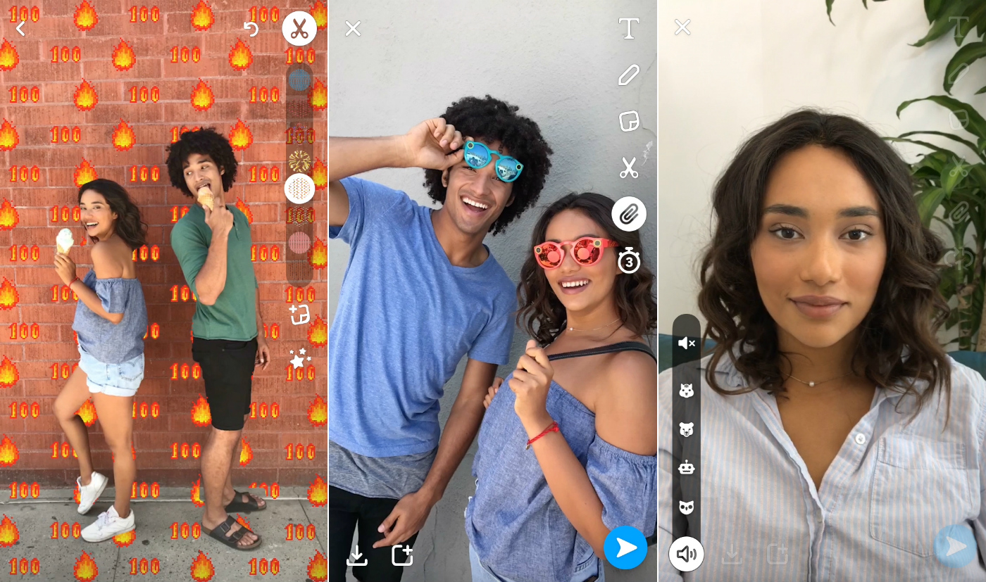 Snapchat update adds voice filters, backdrops and URL links