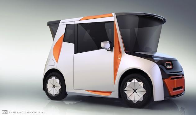 元BMWのデザイナー、クリス・バングル氏が居住空間も兼ねた中国向け電動シティカー「REDS」を発表