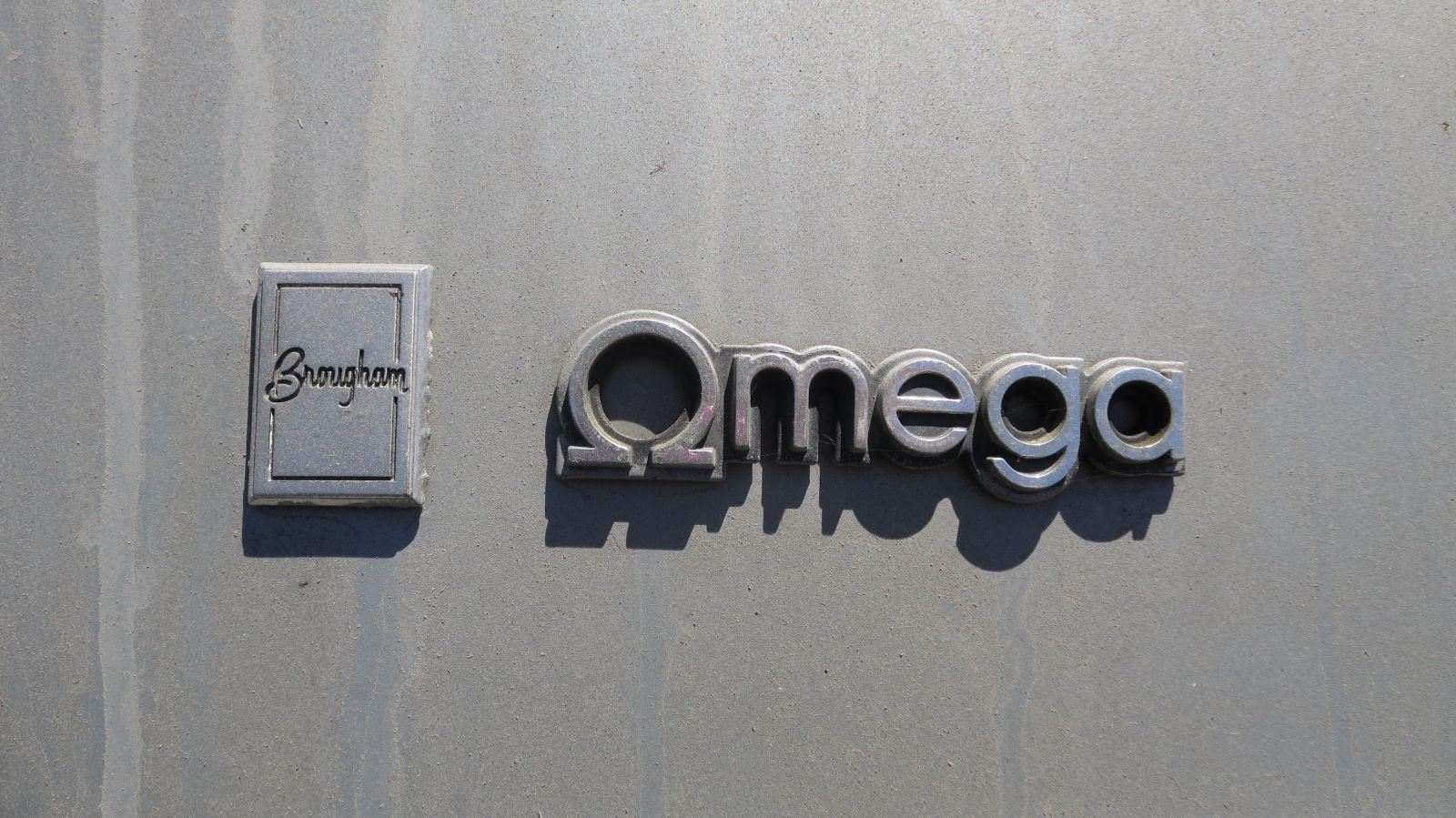1984 Oldsmobile Omega Brougham in California wrecking yard