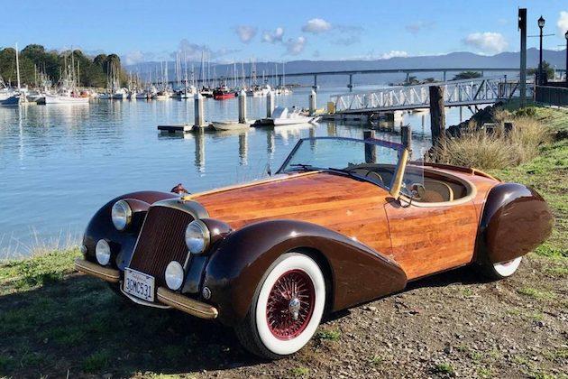 木製ボディの手作りロードスター、売ります。 ドライブトレインは2代目日産「フェアレディZ」から流用