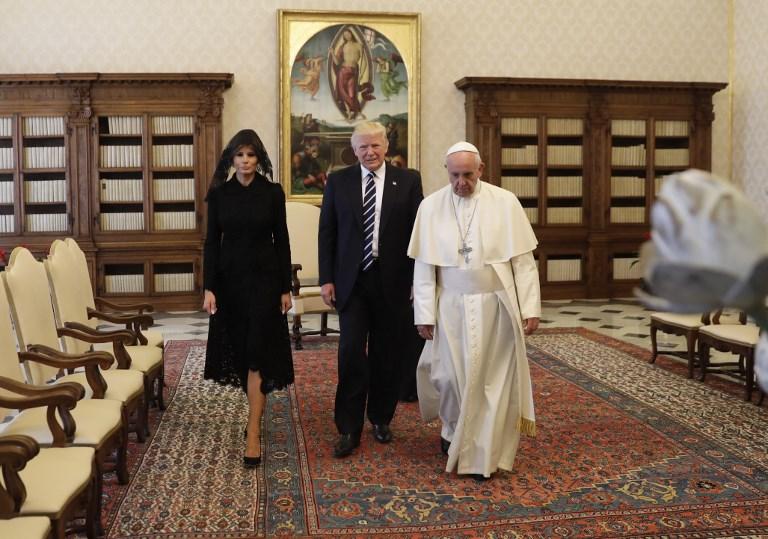 Les images de la rencontre entre Donald Trump et le pape