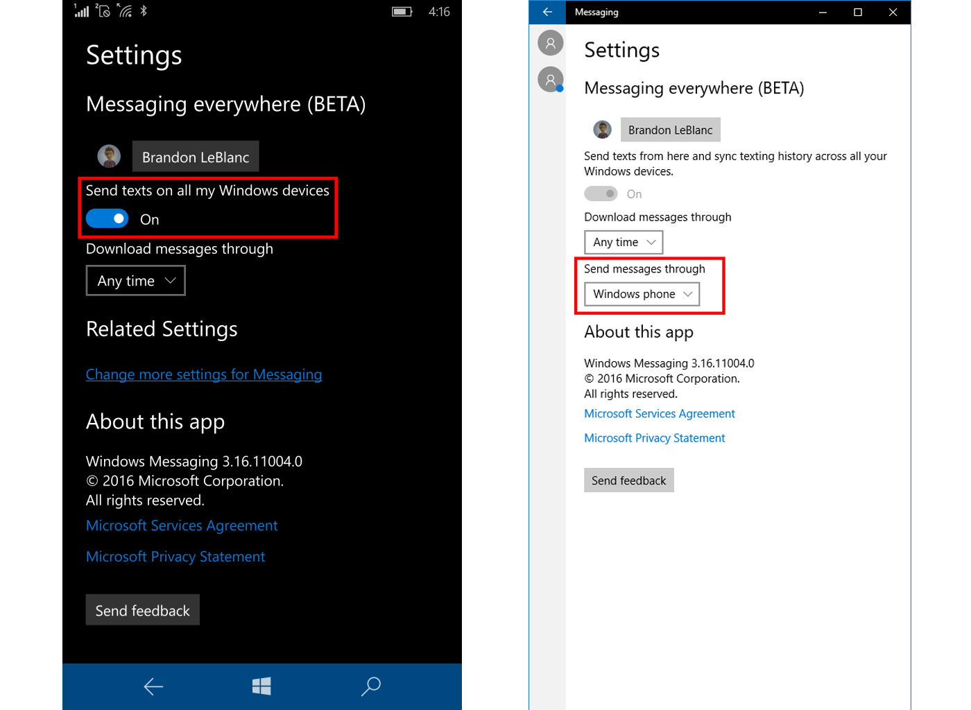 Windows 10 Mobile Preview Lets You Text From Your Pc Beta Wiring Diagram